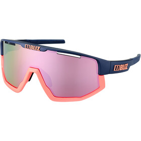 Bliz Fusion M12 Glasses matte dark blue/peach jawbone brown/rose multi